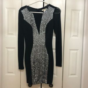 ARDEN B sequin black mini dress!